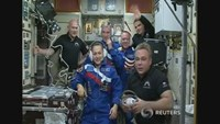 U.S.-Russian crew safely reaches ISS