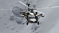 Military helicopters rescue people stranded after Mt Ontake eruption