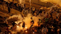 Violence on the streets of Hong Kong following Occupy protest