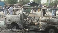 Bombs target bus in Pakistan