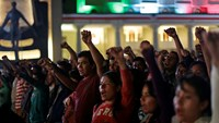 Dozens missing after Mexico protest