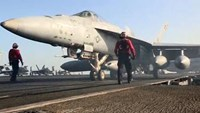 U.S. Navy release video of new aircraft strikes against Islamic State
