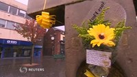 Town mourns for UK hostage