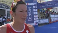 Spirig repeats her success at Cozumel World Cup triathlon event