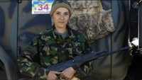 Women join separatists' fight for eastern Ukraine