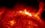 NASA captures images of twisting solar flare