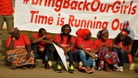 Nigerians demand release of 200 kidnapped schoolgirls