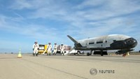 U.S. Air Force lands robotic X-37B space plane in California