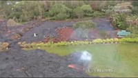 Lava from Hawaii threatens to consume its first home