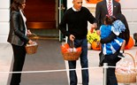 The Obamas welcome trick-or-treaters to the White House