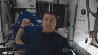 Astronaut offers floating peek inside International Space Station
