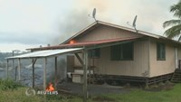Hawaii lava destroys first home