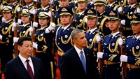 China's Xi hosts welcoming ceremony for Obama