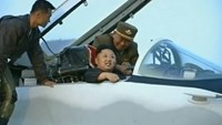 North Korea's Kim watches military drills, boards fighter jet: State TV