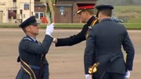Prince Harry presents new ceremonial flag to RAF