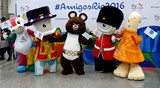 Mascots from previous Olympic Games unite in Rio de Janeiro