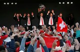 Switzerland welcomes home Davis Cup heroes