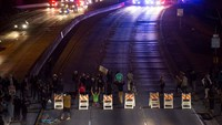 Major freeways blocked by protesters in CA