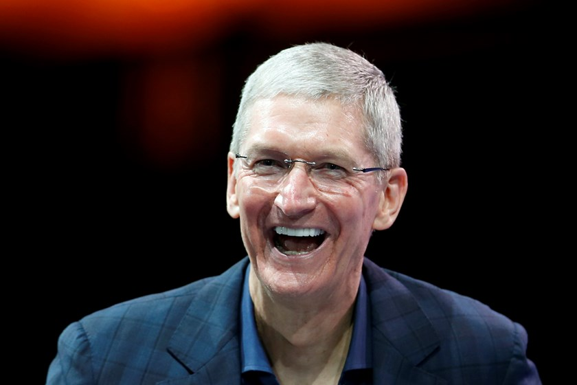 Apple CEO Tim Cook speaks at the WSJD Live conference in Laguna Beach, California, in this file photo taken October 27, 2014. An anti-discrimination bill championed by Alabama's sole openly gay lawmaker will bear the name of Apple CEO Tim Cook, who came o