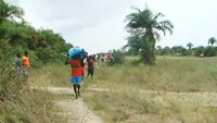 Island residents of Sierre Leone receive food aid