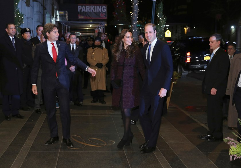 Britain's Prince William, Duke of Cambridge, and his wife Catherine, Duchess of Cambridge, arrive at the Carlyle hotel in New York, December 7, 2014. Prince William and his wife Kate are on their first visit to New York City, a whirlwind trip that include