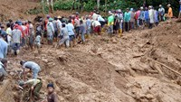 Frantic search after Java landslide