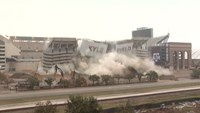 Part of Kyle Field stadium in Texas is imploded