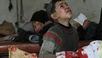Children under fire in daily raids in Syria