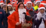 A 'goose run' in Berlin to burn off that holiday cheer