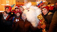 Hopes for better economic times on New Year's Eve in Moscow