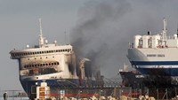 Fires still burn on stricken ferry, hampering investigation
