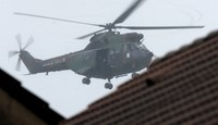 Helicopters over town where Paris attack suspects last seen