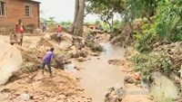A disaster zone in Malawi