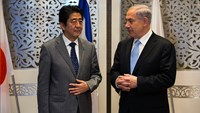 Japan's Abe arrives in Israel