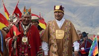 Bolivia's Morales sworn in for third term in indigenous ceremony