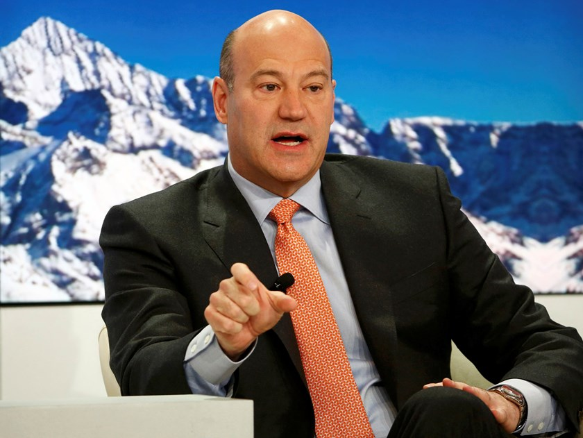 Gary Cohn, President and Chief Operating Officer of Goldman Sachs, speaks at the Ending the Experiment event in the Swiss mountain resort of Davos January 22, 2015.