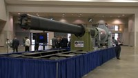 U.S. Navy railgun makes public debut