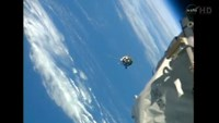 Russian supply ship docks with International Space Station