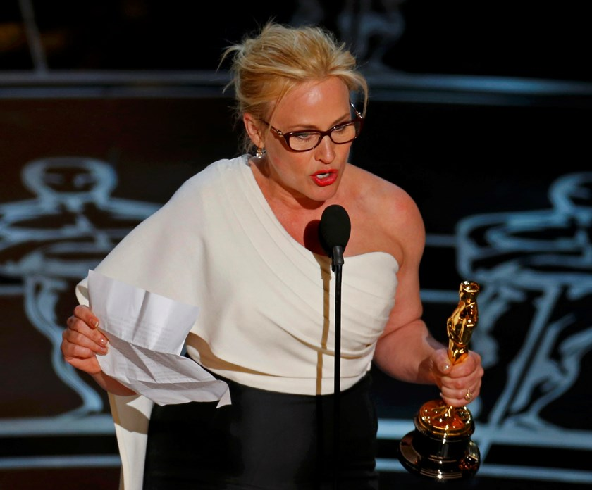 Patricia Arquette wins first Oscar with 'Boyhood'