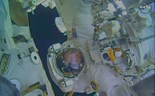 Water leaks into astronaut's helmet