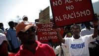 Haitians protest against the Dominican Republic