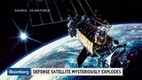 Secret space race: Defense satellite explodes