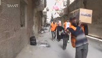 First food aid in three months reaches Damascus refugee camp