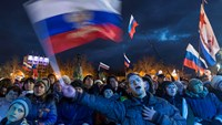 Russians celebrate first anniversary of Crimea annexation