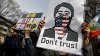 "Protesters holding placards shout slogans at a rally against Japan's Prime Minister Shinzo Abe's administration in central Tokyo March 22, 2015. More than 10,000 people joined the protest, according to the organizer. Placard (L) reads in Japanese ""No to A"
