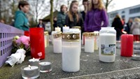 German students weep for classmates killed in plane crash