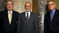 Afghan President Ashraf Ghani talks of threat posed by Islamic State