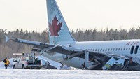 Air Canada says cause of crash landing not yet identified