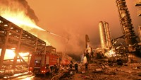 Fire at chemical plant in China