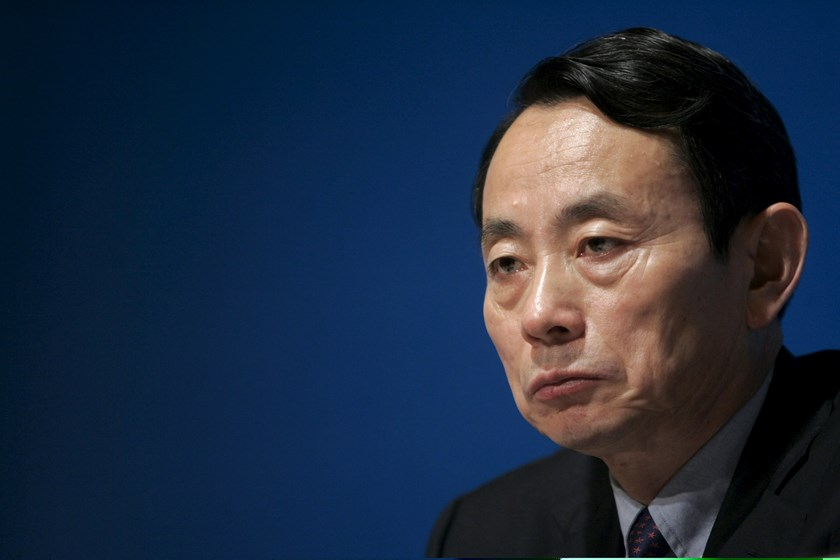 Former Vice Chairman and President of PetroChina Company Limited Jiang Jiemin attends a news conference in Hong Kong in this March 19, 2007 file picture. The trial of the former head of CNPC, China's top energy group, began on April 13, 2015 with charges